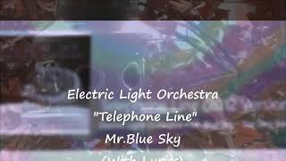Telephone line by Electric Light Orchestra lyrics on screen