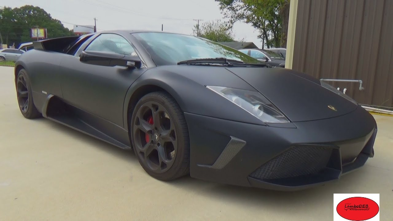 Lamborghini Murcielago Lp640 4 Matte Black Wrap Youtube