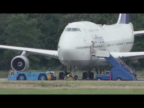 4K Departure Lufthansa Boeing 747-400 after covid storage back in service: EHTW ENSCHEDE 20-09-2021