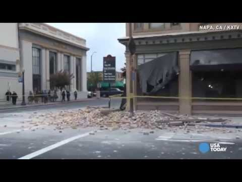 Earthquake shakes downtown Napa, damages buildings