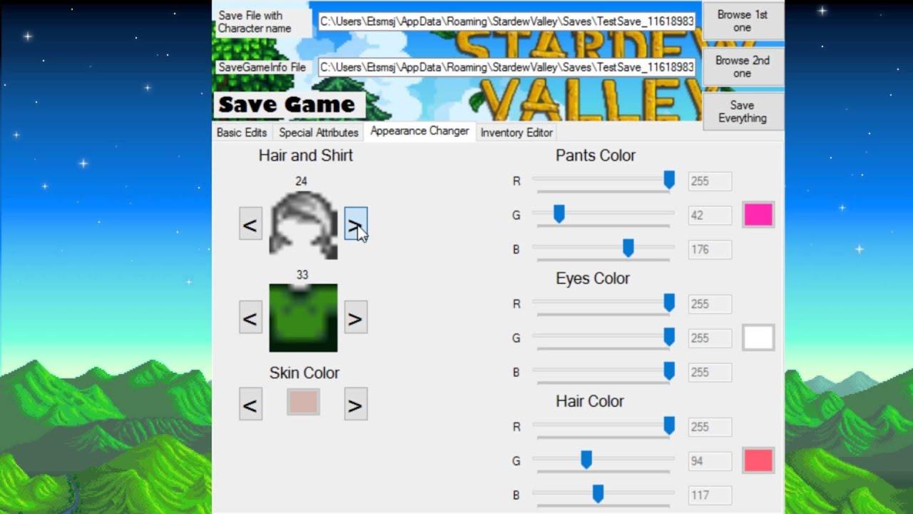 Stardew Valley Save Editor