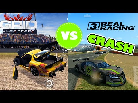 REAL RACING 3 VS GRID AUTOSPORT PHYSICS COMPARISON [crashes, damage model]
