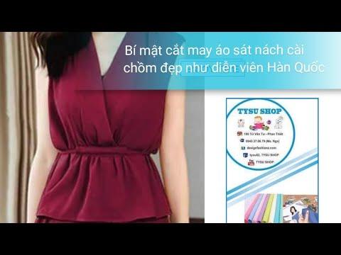 Dạy Cắt May Áo Sát Nách, Cài Chồm Đẹp Như Diễn Viên Xứ Hàn| tysu shop |sewing diy clothes| 725