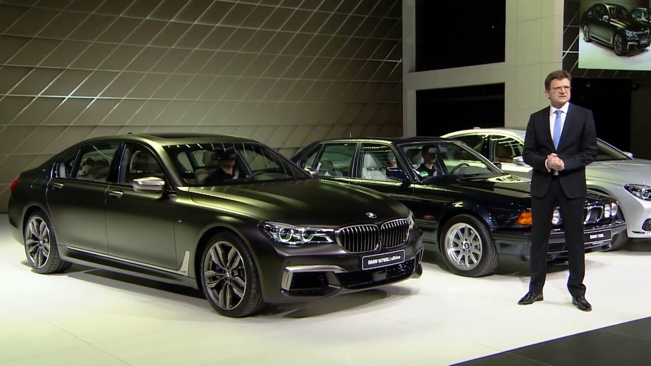 2016 Geneva Motor Show - BMW M760 Li xDrive Reveal - YouTube