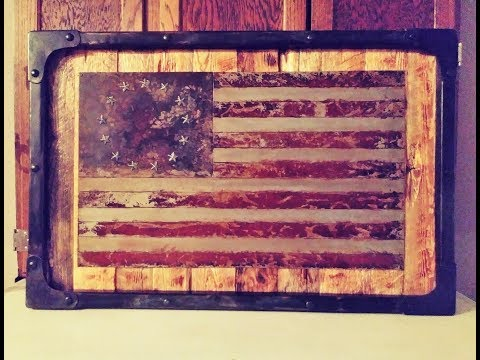DIY Metal Wood Flag art Build