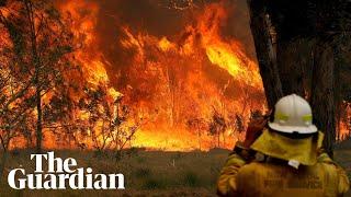 Braving the blazes: dramatic footage of bushfires ravaging Australia's east coast