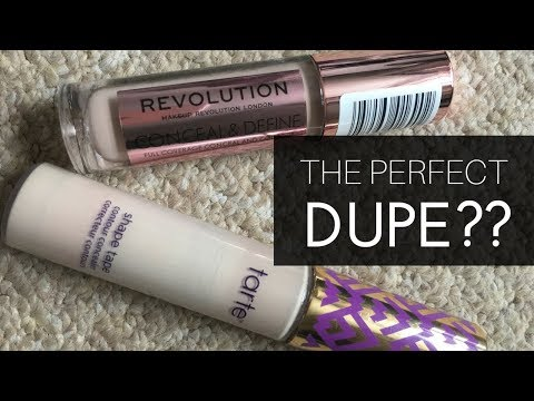 Makeup Revolution Concealer -  C3 vs Tarte Shape Tape - fair