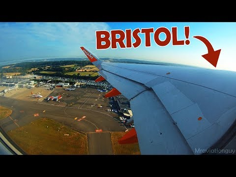 STUNNING VIEWS! Easyjet Airbus A320-214 Beautiful Morning Takeoff from Bristol Airport (BRS/EGGD)