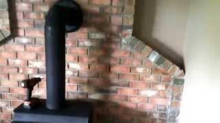 Wood Burning Stove Brick Wall not Insurance Compliant Heatshield