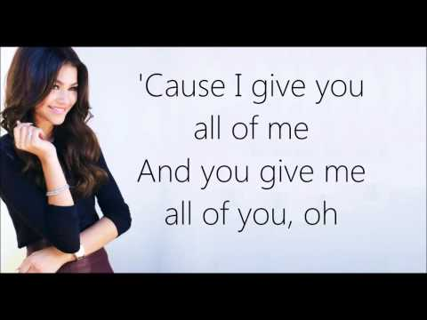 All Of Me    John Legend Max & Zendaya Lyrics