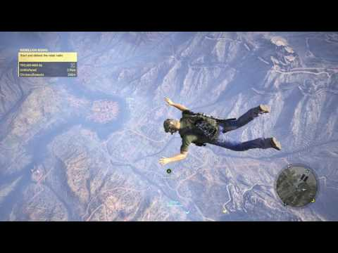 SKYDIVING FROM SKY BARRIER - GHOST RECON: WILDLANDS