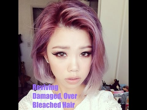How to Revive Damaged/ Over Processed/ Over Bleached Hair - YouTube