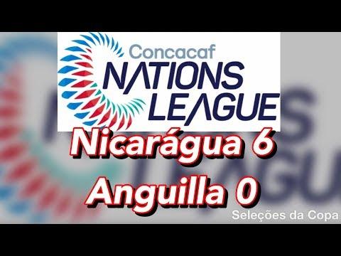 Nicarágua 6 x 0 Anguilla (Nations League)