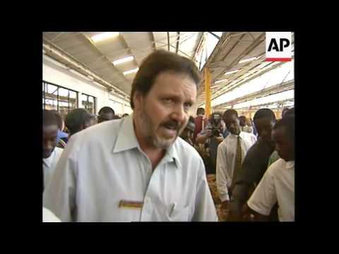 ZIMBABWE: HARARE: TOBACCO AUCTION DISRUPTED