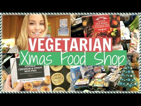 VEGETARIAN CHRISTMAS GROCERY HAUL / FOOD SHOP | Alex Gladwin