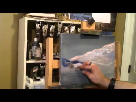 Quick Oil Painting Demo –  Landscape Painting Tutorial from Paintings By Night
