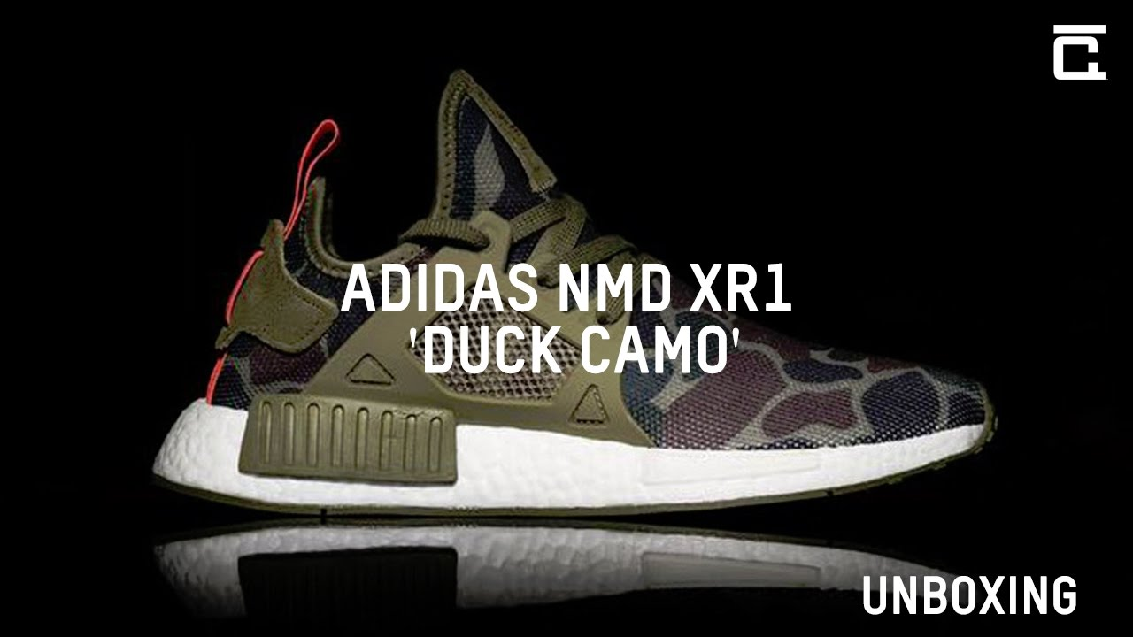 Adidas NMD XR1 pato Camo unboxing en YouTube