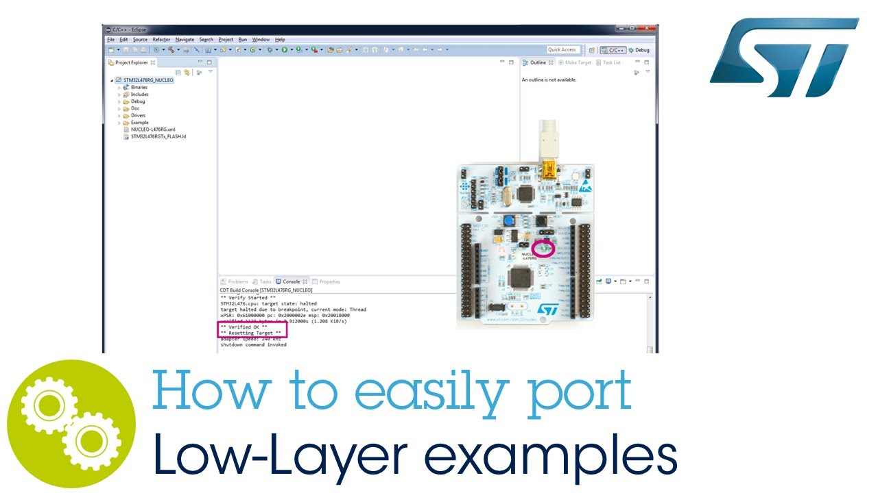 Getting Started: How to easily port Low-Layer examples by STMicroelectronics