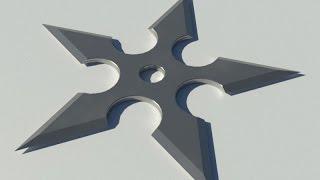 3d моделирование и визуализация сюрикена в AutoCAD 2016
