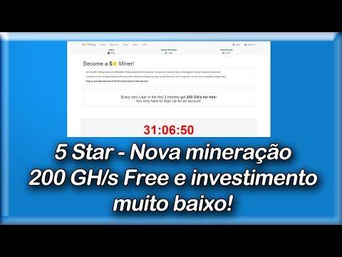 5 Star Mining - 200 GH/s Free No Cadastro - Novinha Aproveitem!!!
