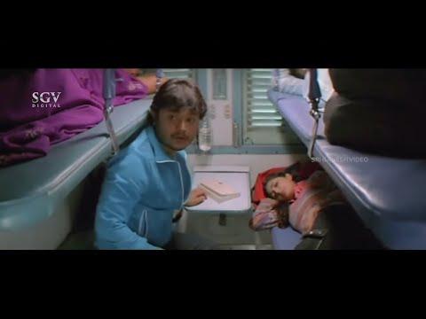 Ganesh Irritated By Yami Gautam In Train Comedy Scenes   Ullasa Utsaha Kannada Movie Part-6