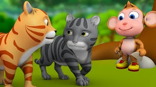 குரங்கு மற்றும் இரண்டு பூனைகள் - The Monkey and Two Cats | 3D Tamil Moral Stories for Kids Tales