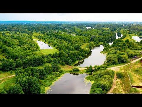 р. Осовец Красота Русской Природы с высоты птичьего полёта 4К видео