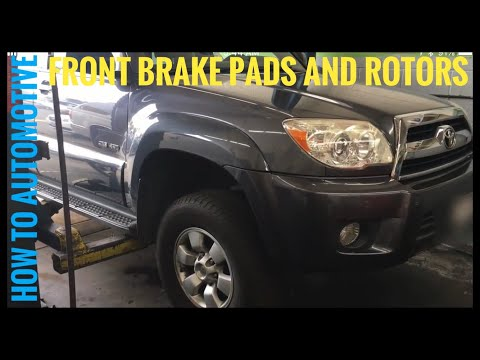 How to Replace Front Brake Pads and Rotors on a 2008 Toyota 4Runner