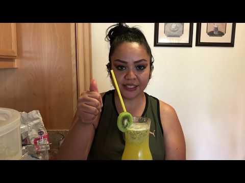 Agua fresca chia de pi�a quiwi