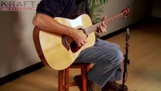 kraft music yamaha fg700s acoustic guitar performance with jake blake