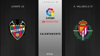 Calentamiento Levante UD vs R. Valladolid CF