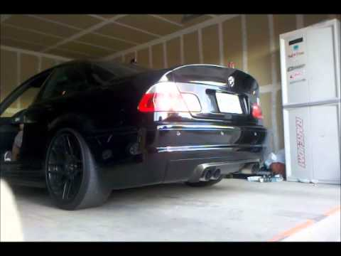 E46 M3 Exhaust Straight Pipe Cold Start Youtube