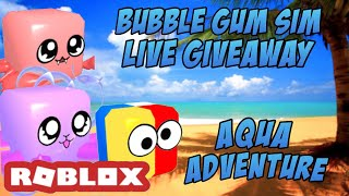 🏖 ROBLOX Bubble Gum Simulator LIVE Giveaway- An Aqua Adventure