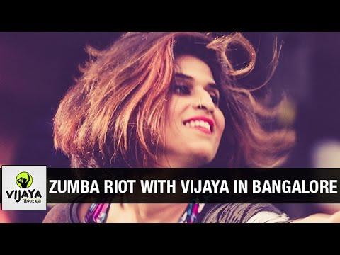 Zumba Riot With Vijaya in Bangalore | Zumba Dance Fitness | Choreographed by Vijaya Tupurani