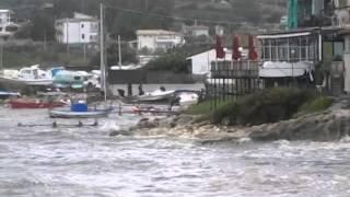 Brucoli : i danni della mareggiata