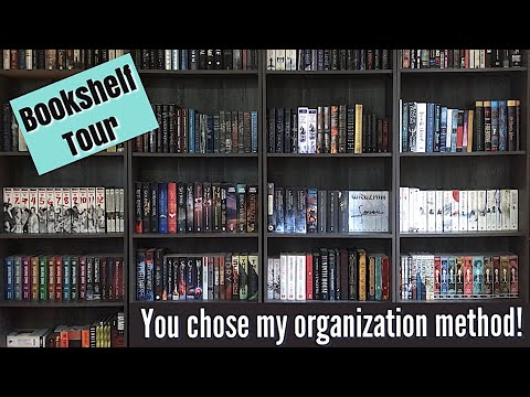 BOOKSHELF TOUR AND ORGANIZATION | BASED ON YOUR VOTES