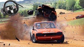 CAPOTEI MEU CARRO no BATE BATE!!! - Wreckfest