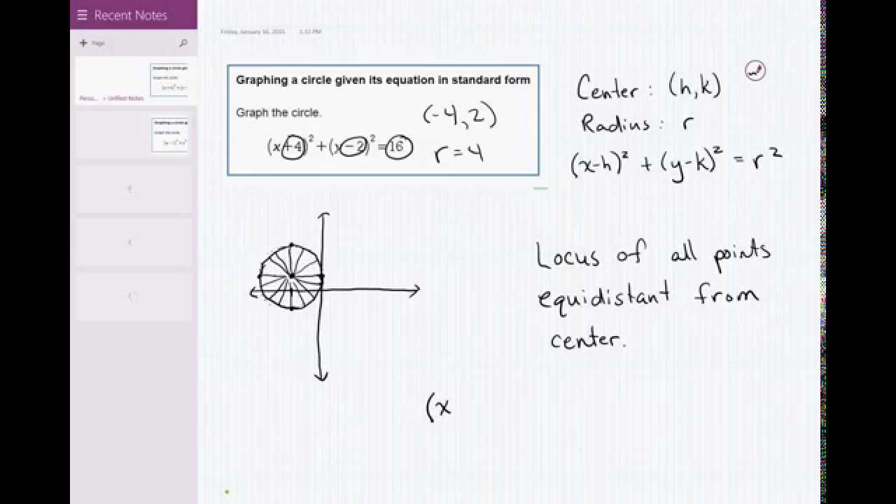 05 08 graphing a circle given its equation in standard form youtube 05 08 graphing a circle given its equation in standard form falaconquin