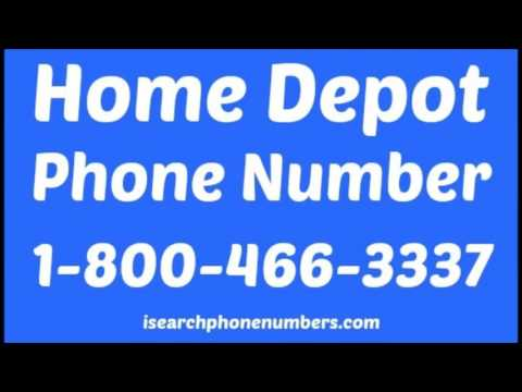 What Is Home Depot Phone Number
