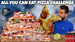 ALL YOU CAN EAT PIZZA CHALLENGE - (Pizza Gourmet) - MAN VS FOOD