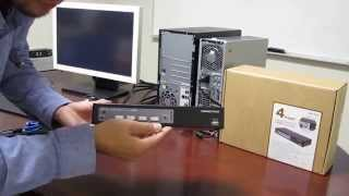 How to Install a Keyboard Video Mouse (KVM) Switch(This video uses the ConnectPRO UR-14+ to show how to install a KVM switch. For more information on KVM technology, visit connectpro.com., 2014-07-18T22:04:31.000Z)