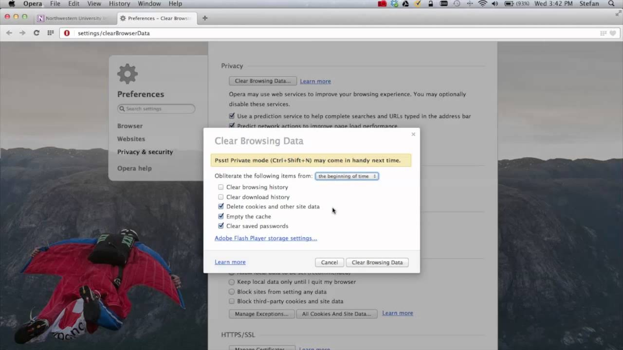 how to turn on cookies on mac os x