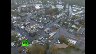 Superstorm Sandy aftermath: Aerial video of devastation in New York, New Jersey