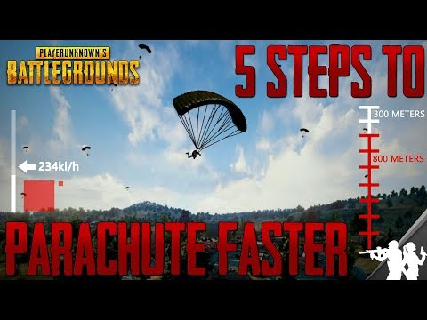 5 Steps to Parachute Faster in PUBG | Parachute Guide | Speed, Distance, Flight Path Tips and Tricks