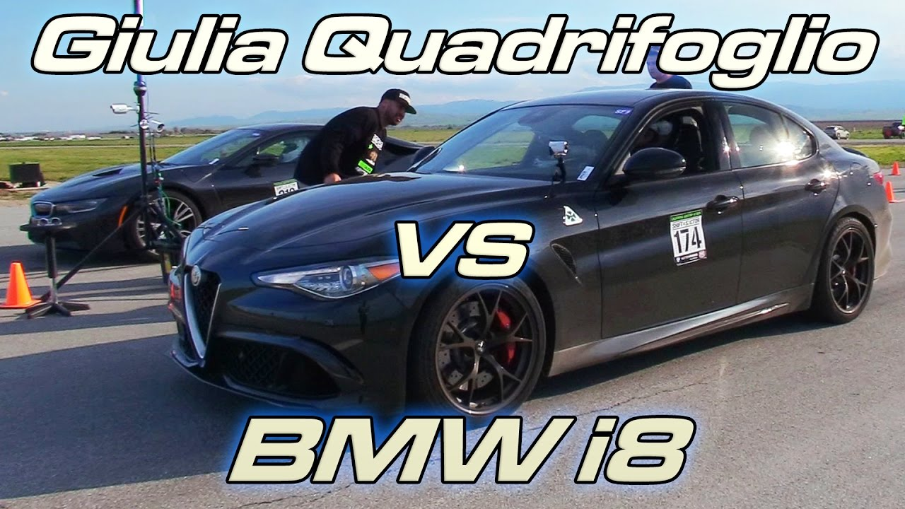 Giulia Quadrifoglio Vs Bmw I8 Youtube