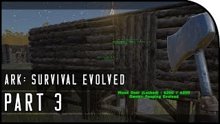"ARK: Survival Evolved Gameplay Part 3 - ""BUILDING OUR HOUSE IN THE CITY!"" (SEASON 3)"