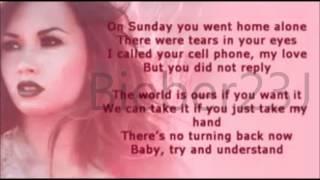 Demi lovato Lower Tone karaoke - Give you heart a break