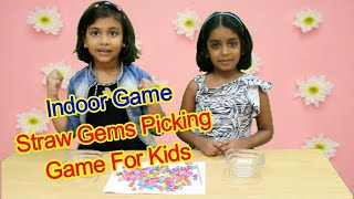 Indoor Game Straw Gems Picking Game For Kids/games to play at home with friends