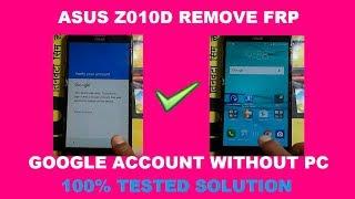 ASUS Z010D FRP Google Account Remove  Letest Solution