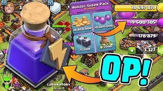 POWER POTION IS OP! - Clan Games Rewards & Holiday SUPER Pack - Clash of Clans - TH11 War Attacks